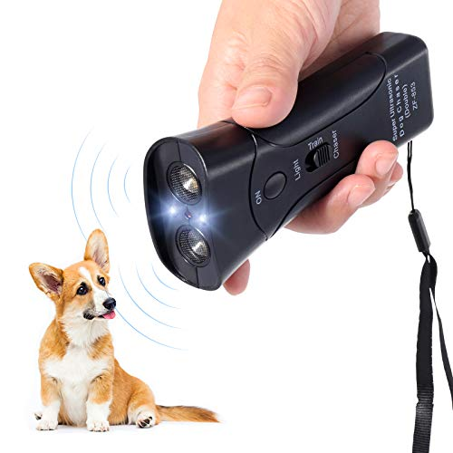 PetUlove Dog Bark Deterrent,Handheld Dog Trainer and Bark Control Device with Led Light and Wrist Strap,Dog Training Tool for Safe Use Indoor Outdoor